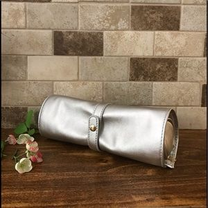 Other - Anthropologie Metallic Loop Make up Bag